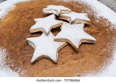 Homemade christmas biscuits with caster sugar
