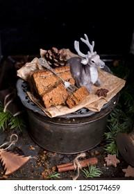 Homemade Christmas gingerbread