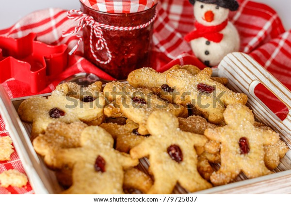 Homemade Christmas Sugar Cookies Shape Men Stock Photo Edit Now