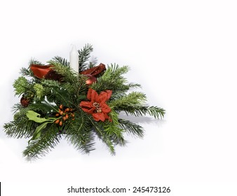 Homemade Christmas table centre