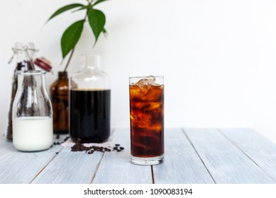 homemade cold brew iced coffee summer beverage