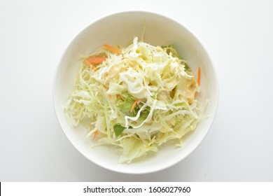 Homemade coleslaw salad for healthy food image