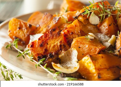 Homemade Cooked Sweet Potato with Onions and Herbs