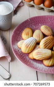 Homemade cookies. French cookies Madeleine. Holidays food.
