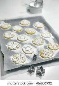 homemade cookies made from cornmeal