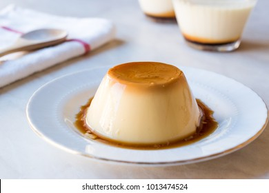 Homemade Creme Caramel with Sweet Syrup / Custard Pudding