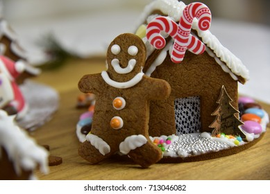Homemade Decorated Ginger Bread House