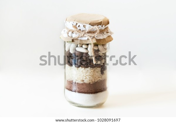 Homemade Decoration Glass Jar Filled Colorful Stock Photo Edit