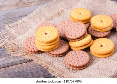 homemade, delicious biscuits with cream