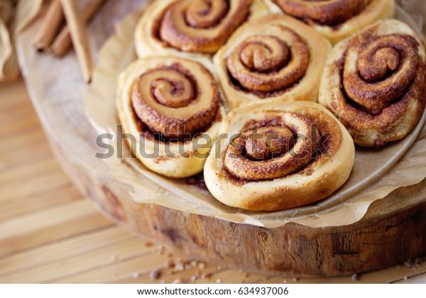 homemade delicious cinnamon rolls - sweet food