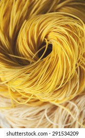 homemade dried chinese noodles roll background