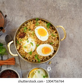 Homemade Egg Biryani / Pilaf or Pulav /Spicy Chettinadu Dindigul Malabar rice Pulao