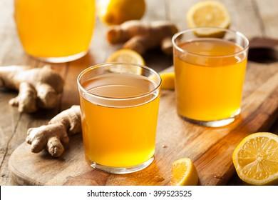 Homemade Fermented Raw Kombucha Tea Ready to Drink