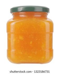 Homemade fig jam or marmalade in glass jar