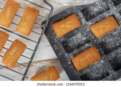 homemade financier cakes, a french pastry