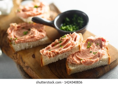 Homemade fish or meat pate with herbs