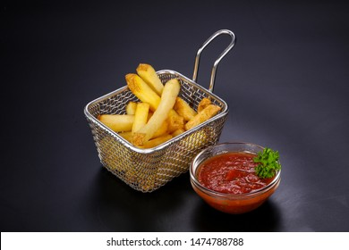 Homemade French Fry potato with sauce