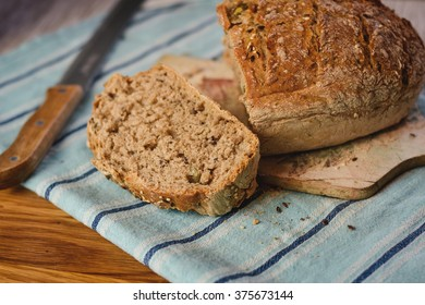 Homemade, fresh bread.