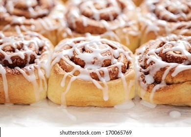 homemade fresh cinnamon buns - sweet food