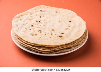 Homemade fresh wheat flour Chapati or roti which is an indian flat bread