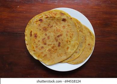Homemade fresh wheat flour Kenyan Chapati,Homemade fresh Hot Chapati .