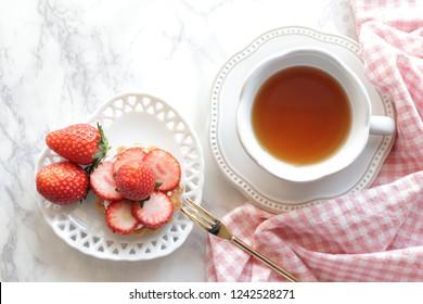 Homemade freshness Japanese strawberry tart