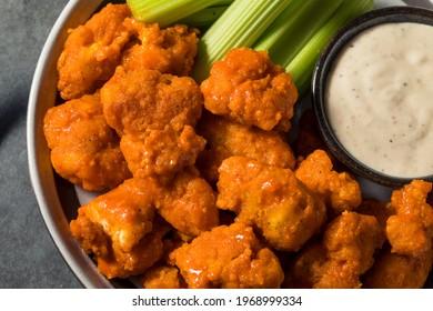 Homemade Fried Boneless Buffalo Chicken Wings with Ranch Dressing