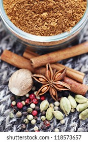 homemade gingerbread spices - herbs and spices /selective focus/