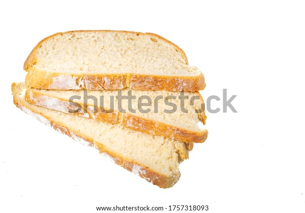 Homemade gluten-free bread. A photo of bread on a white background. Isolated from background. Healthy pastries.