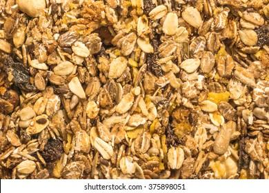 Homemade granola muesli