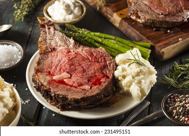 Homemade Grass Fed Prime Rib Roast with Herbs and Spices