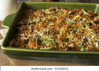 Homemade Green Bean Casserole with Fried Onions