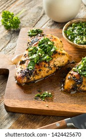 Homemade Grilled Chimichurri Chicken Breast Ready to Eat