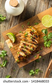Homemade Grilled Chipotle Chicken Breast with Cilantro and LIme