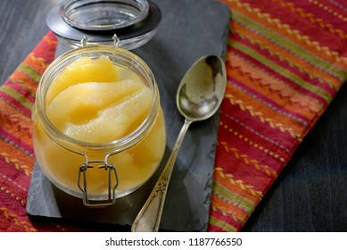 Homemade Half pears compote