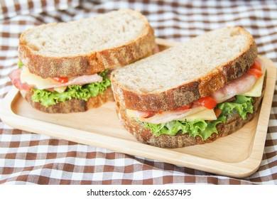 Homemade Ham Cheese Sandwich