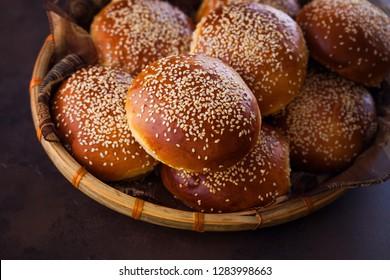 homemade hamburger buns