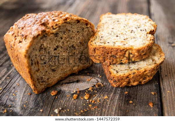 Homemade Healthy Freshly Baked Organic Whole Stock Photo