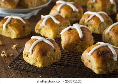 Homemade Hot Cross Buns Ready for Easter