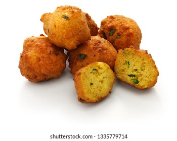 homemade hush puppies, southern food, deep fried cornbread balls