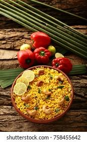 Homemade Indian vegetable pulav, Biriyani, vegetable Biriyani