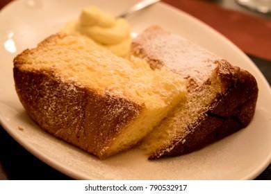 Homemade italian Christmas cake - panettone
