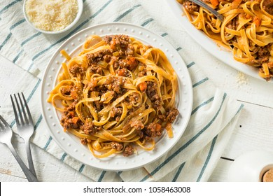 Homemade Italian Ragu Sauce and Pasta with Cheese