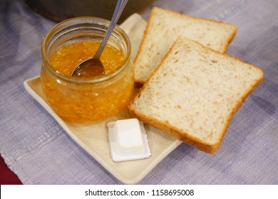 homemade jam with bread