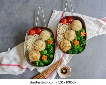 Homemade japanese meal / Onigiri Bento / Bringing home cooked lunch to work-place