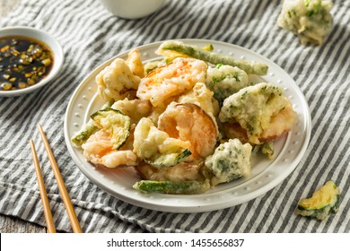 Homemade Japanese Vegetable Tempura with Soy Dipping Sauce