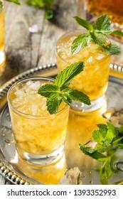 Homemade Kentucky Bourbon Mint Julep in a Glass