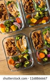Homemade Keto Chicken Meal Prep with Veggies in a Container