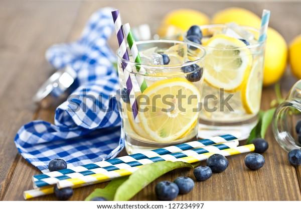 Homemade lemonade from fresh fruit
