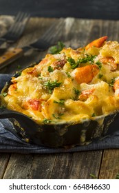 Homemade Lobster Macaroni and Cheese with Parsley and Pepper